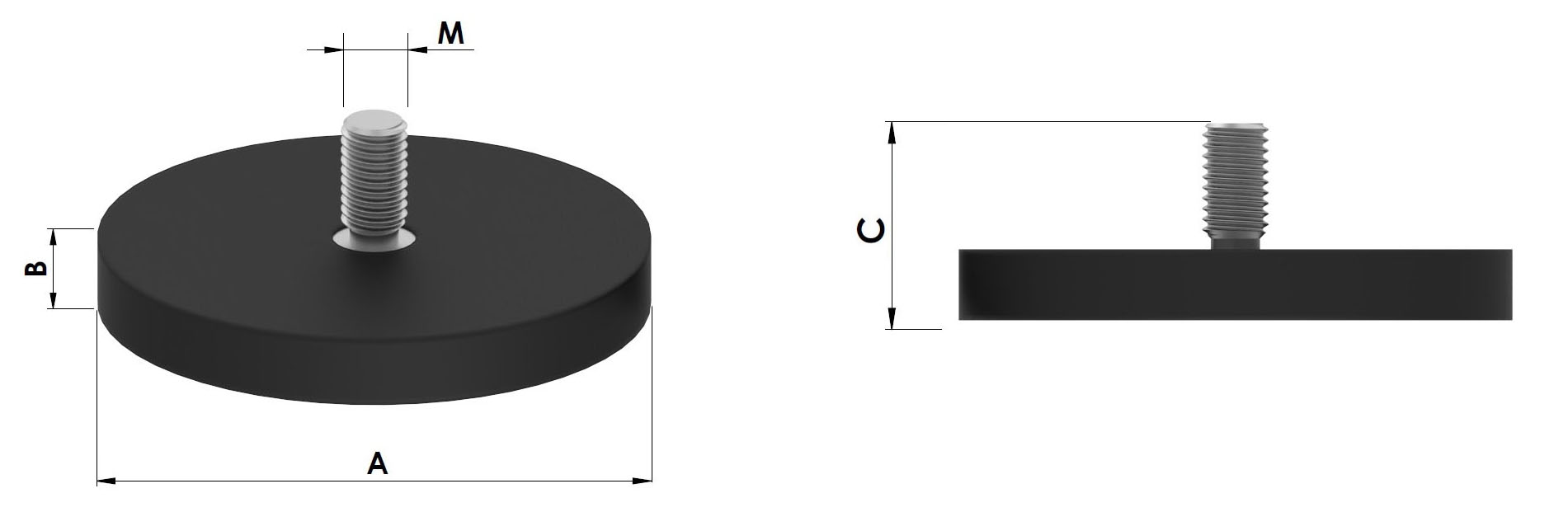 base magnetica de neodimio